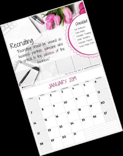 direct sales calendar 2019