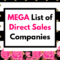 MEGA List Of Direct Sales Companies | UPDATED 2020
